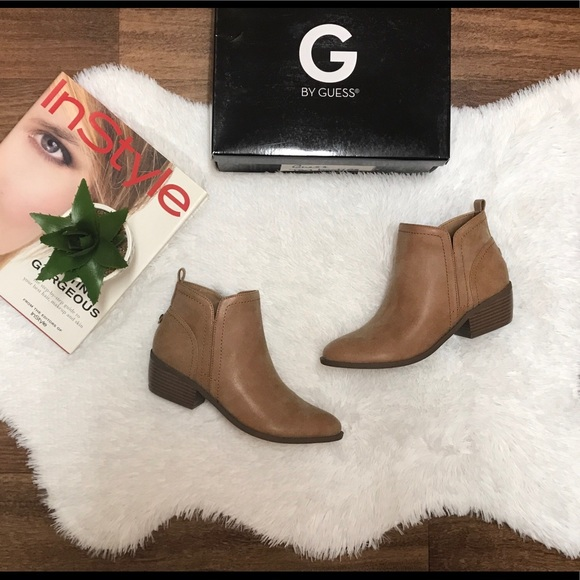 3c8cda49123 NIB G by Guess Tammie Booties Dark Natural Sz 7.5M